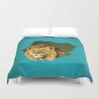 lion Duvet Covers featuring lion by gazonula