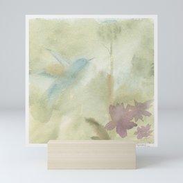 Hummingbird Selah - Vintage Taupe Brown Mini Art Print