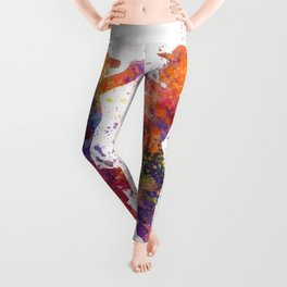women playing softball 01 Leggings