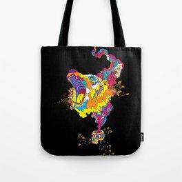 Psychedelic Bear Roar Tote Bag