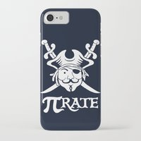 pi iPhone & iPod Cases featuring Pi-Rate by Alby Letoy