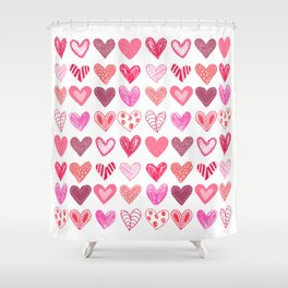 Many Hearts Shower Curtain