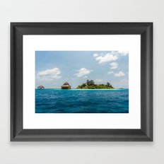 Maldives - in the middle of nowhere  Framed Art Print