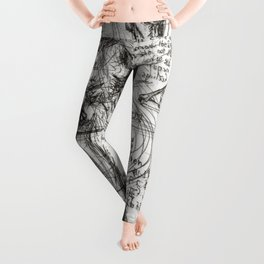 Clone Death - Intaglio / Printmaking Leggings