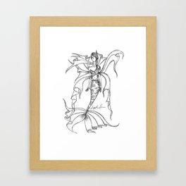 Tangled Mermaid Framed Art Print