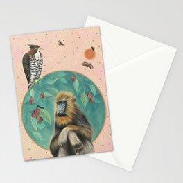 Melancholy Mandrill Stationery Cards
