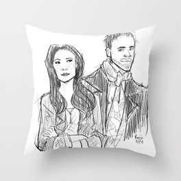 elementary: holmes and watson (sketch) Throw Pillow