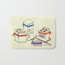 Teenage Mutant Ninja Kitchen Appliances Bath Mat