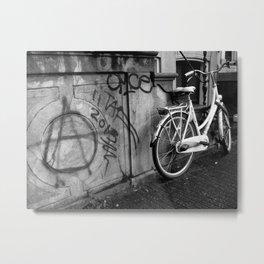 Amsterdam Anarchy Black & White Metal Print