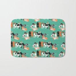 Coonhound row Bath Mat