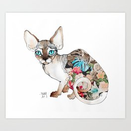 sphinx cat Art Print