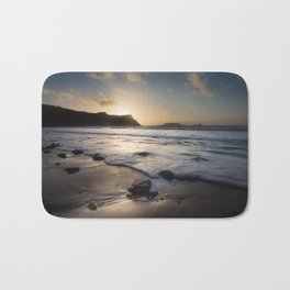 Sunset at Rhossili Bay Bath Mat