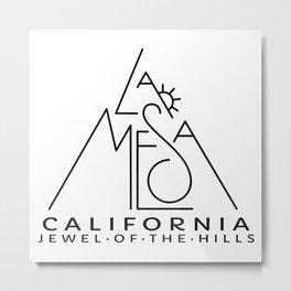 La Mesa California With Sun Metal Print