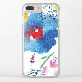Florals in Watercolor Clear iPhone Case