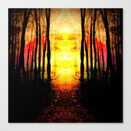 Path To Imagination Golden Canvas Print