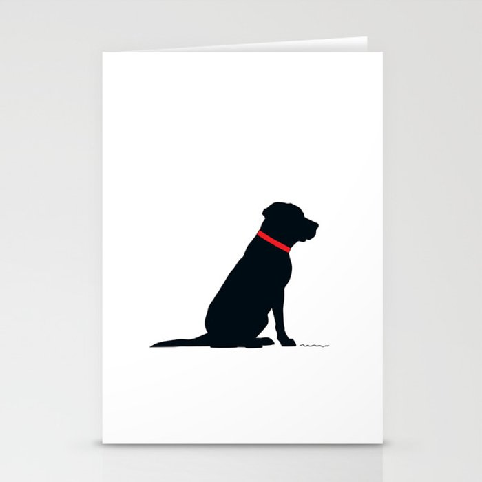 Modern Black Lab Silhouette Stationery Cards