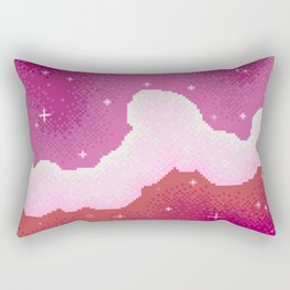 Lesbian Pride Flag Galaxy Rectangular Pillow