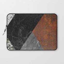 Marble, Granite, Rusted Iron Abstract Laptop Sleeve