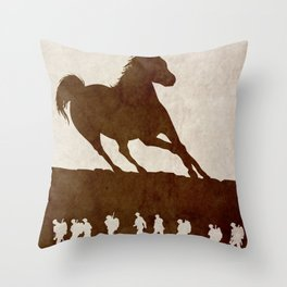 War Horse Throw Pillow
