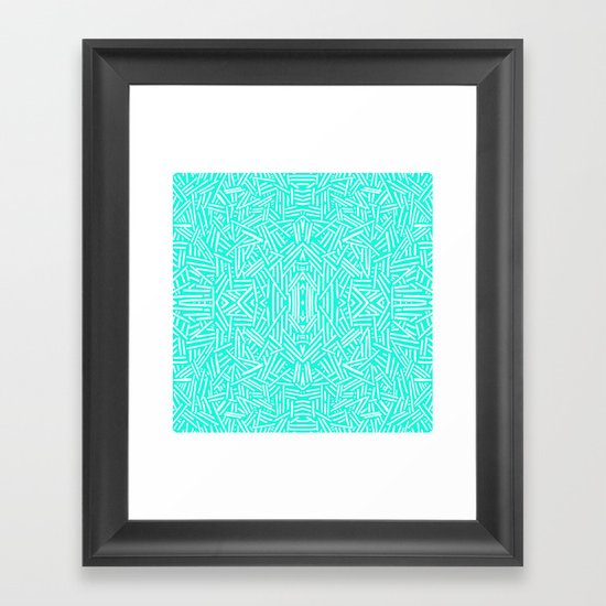 Radiate (Mint) Framed Art Print