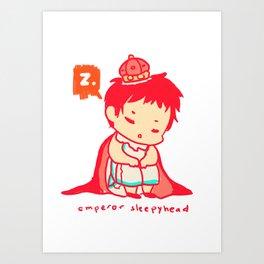 The Emperor Sleeps Art Print
