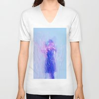 the lights V-neck T-shirts featuring Lights by Raego