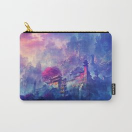 Beautiful Japanese Mountain Castle Ultra HD Carry-All Pouch