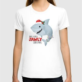 Have A Holly Jawly Christmas Shark T-shirt