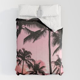 Tropical Trees Silhouette Comforters