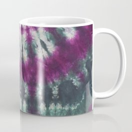 Tie Dye Spiral Green Purple Coffee Mug