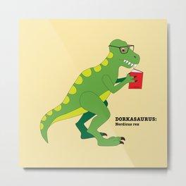 Dorkasaurus Metal Print