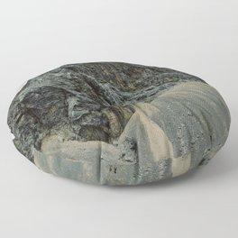 Dark rocky mountain Floor Pillow