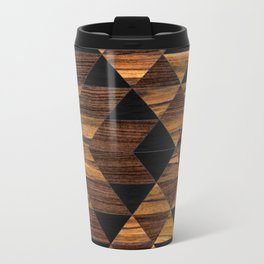 Urban Tribal Pattern 11 - Aztec - Wood Travel Mug