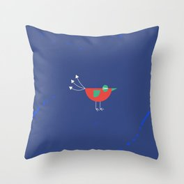Birdie-6 Throw Pillow