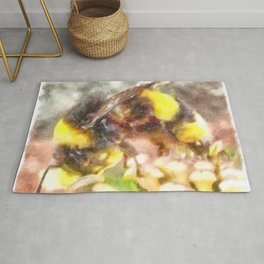 Busy Busy Busy Watercolor Rug