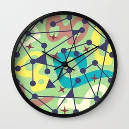 Mid Century Modern Abstract Pattern 382 Wall Clock