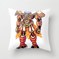 Mecha Owl Throw Pillow