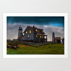 The Lights are on at Pemaquid Art Print