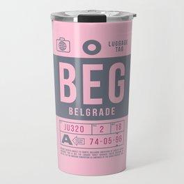 Luggage Tag B - BEG Belgrade Serbia Travel Mug