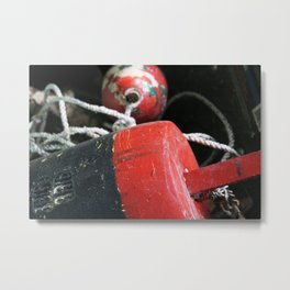 Nautical Crabbing Buoy Metal Print