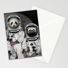 Capricorn 3 - Astronaut animal group Stationery Cards