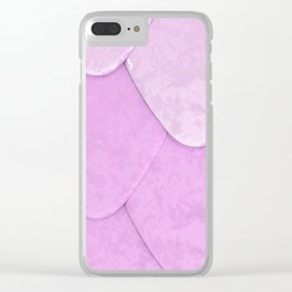 Pattern of purple rounded roof tiles Clear iPhone Case