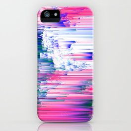 Only 90s Kids - Pastel Glitchy Abstract Pixel Art iPhone Case