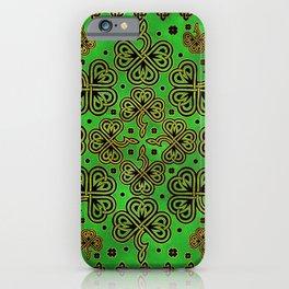 Shamrock Clover Celtic Ornament iPhone Case