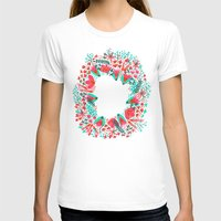 waldo T-shirts featuring The Earth Laughs in Flowers – Pink & Charcoal by Cat Coquillette
