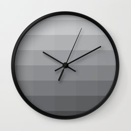 Fifty Shades Of Grey as Color Wall Clock