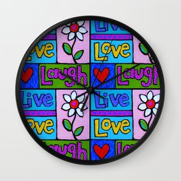 live, love, laugh ... Wall Clock