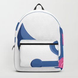 Nautical boat anchor pink seashells accent Backpack