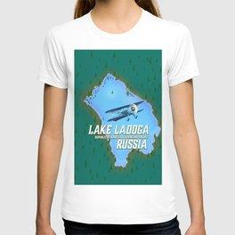 Lake Ladoga Russian map T-shirt