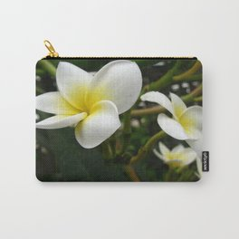 Closeup Frangipani with Natural Garden Background Carry-All Pouch